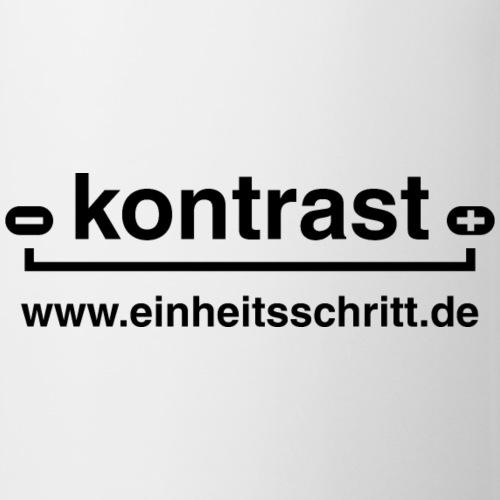 kontrast - Logo schwarz - Tasse