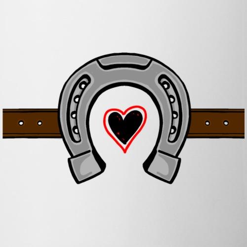 Hoefijzer met hartje en riem groot - Mok