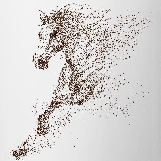 Vorschau: Pixel Horse brown - Tasse