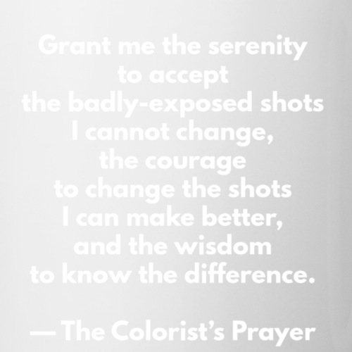 The Colorist's Prayer Mug (WHITE TEXT) - Mug