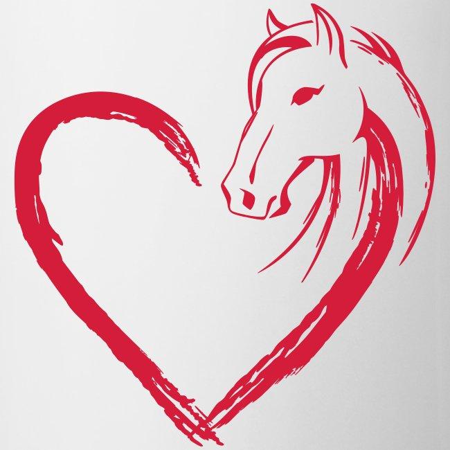 Vorschau: Pferde Herz - Tasse