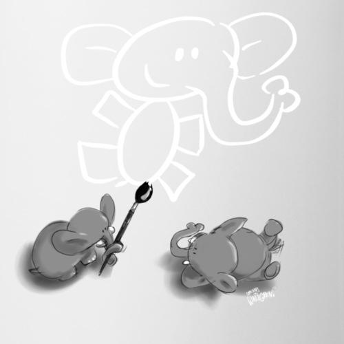 When elephants paint elephants. - Mug