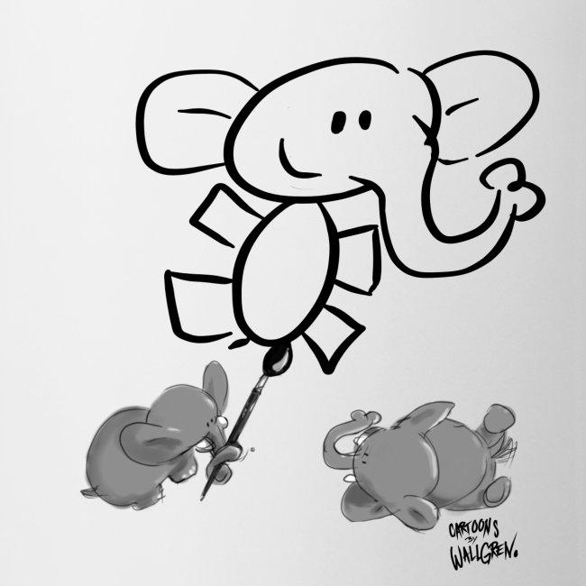 When elephants paints elephants light