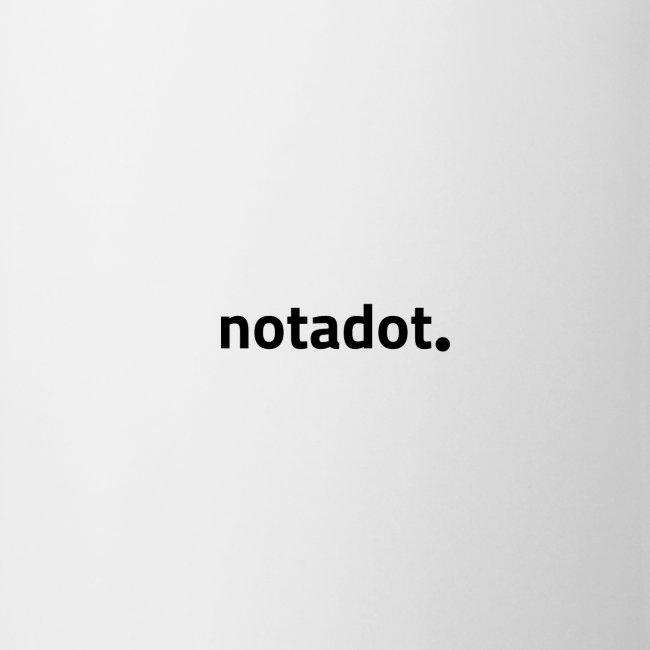 Notadot. Records logo Black