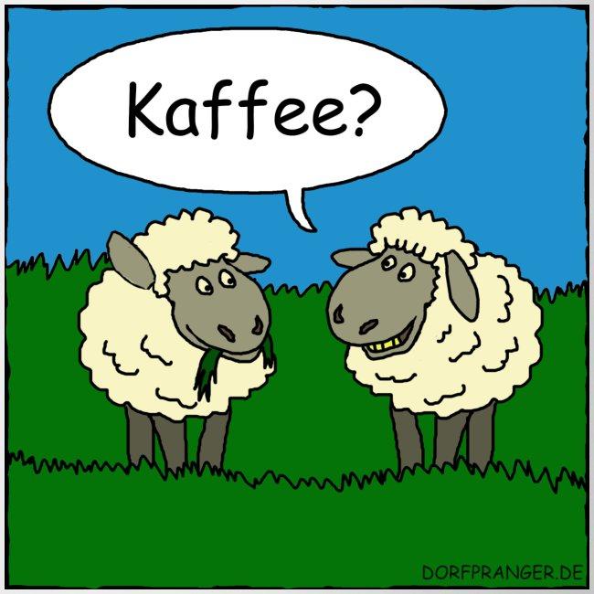 Schafe: Tasse Kaffee