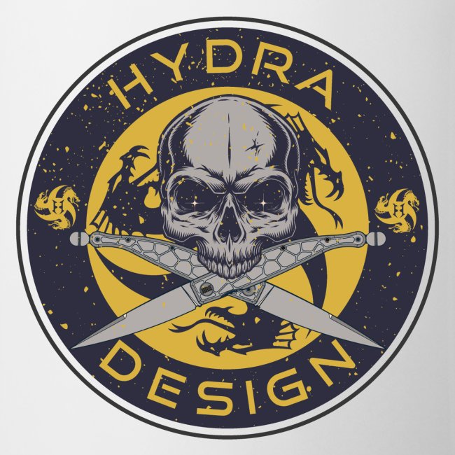 Hydra Design Roman knives & skull