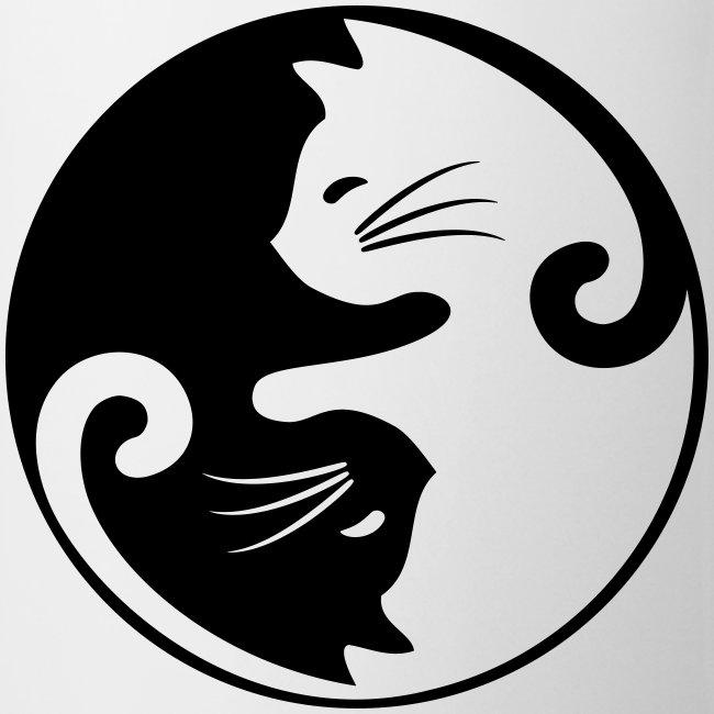 Vorschau: yin yang cat - Tasse