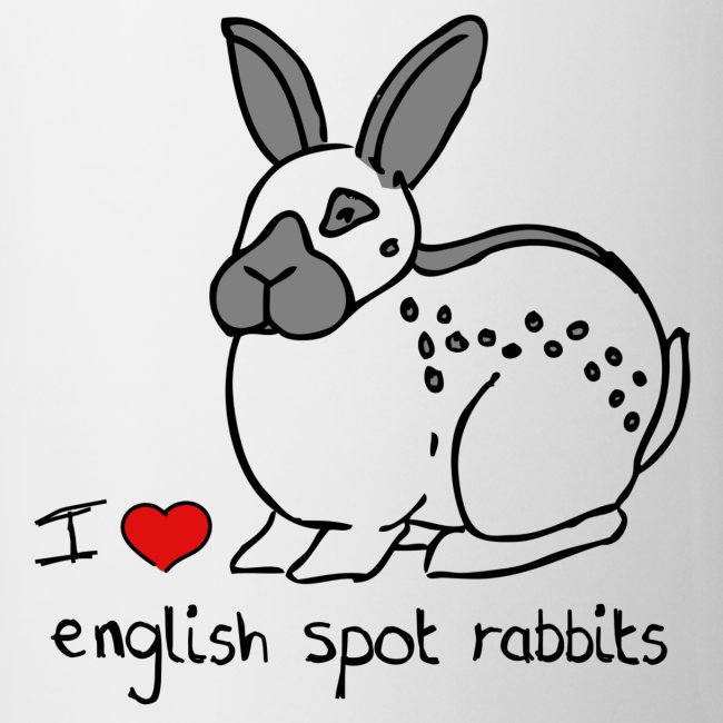 I Love English Spot Rabbits