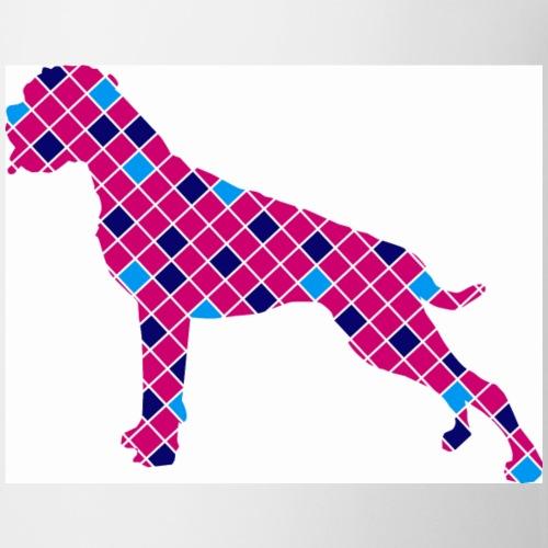 Boxer karriert / Digitaldruck - Tasse