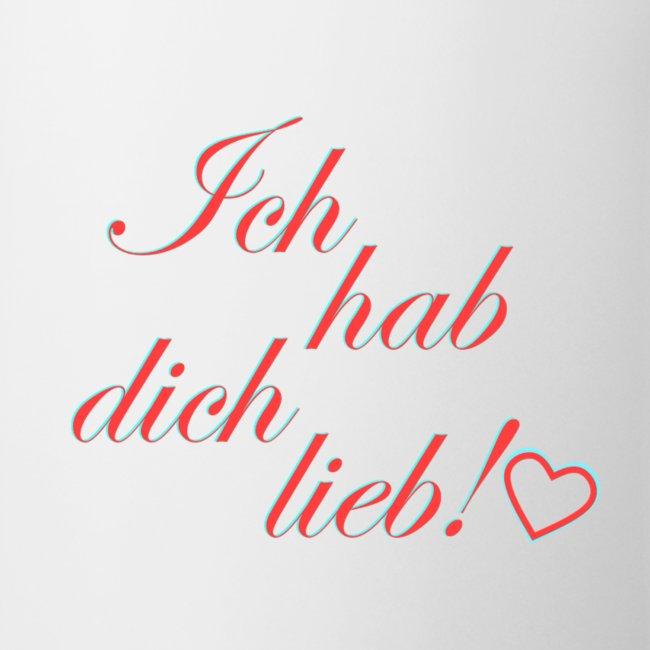DBMShop   Ich hab dich lieb [Spruch] - Tasse
