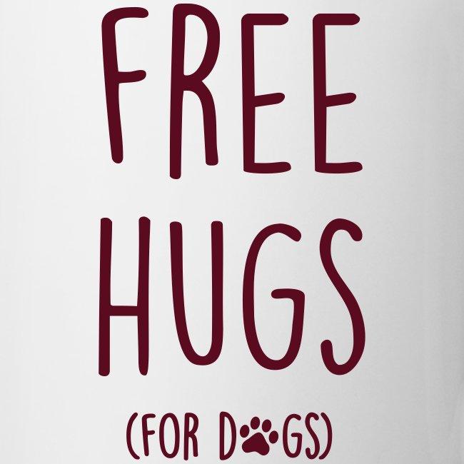 Vorschau: free hugs for dogs - Tasse