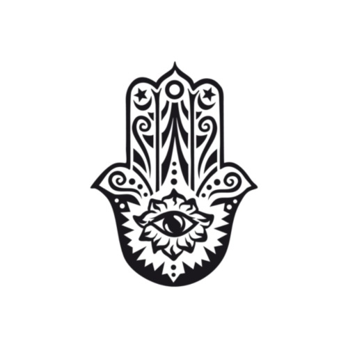 Wandaufkleber-Hamsa-Hand-der-Fatima-einzel-web - Tasse