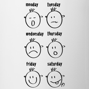 Weekdays Smilies - Mug
