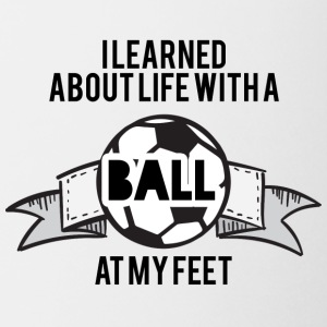 Football: I learned about life with a ball at my - Mug
