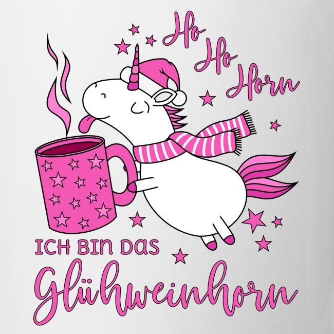 Simsalapimp Einhorn Glühweinhorn Ho Ho Horn Spruch Weihnachten Tasse