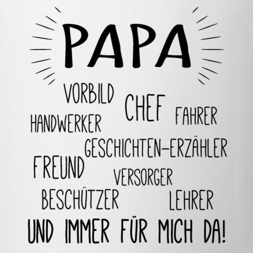 Vatertag Geburtstag Geschenkidee - Papa Attribute - Tasse