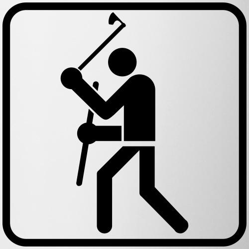 Axt und Schild Piktogramm - Tasse