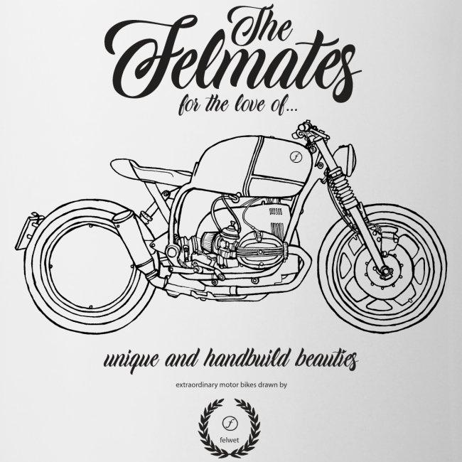 the felmates motorbikes outlines black 2