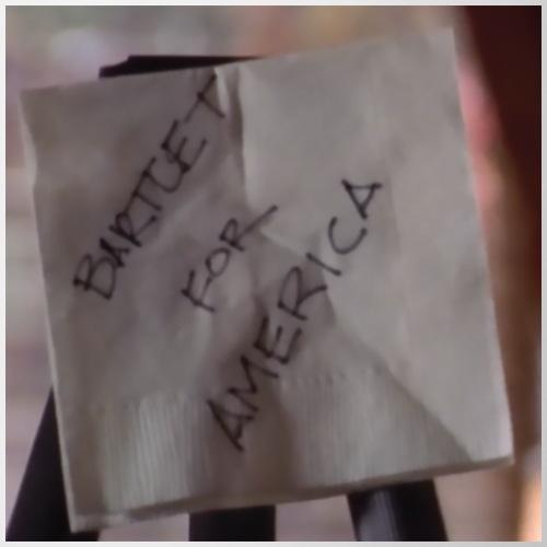 Bartlet For America Napkin on Easel - Mug