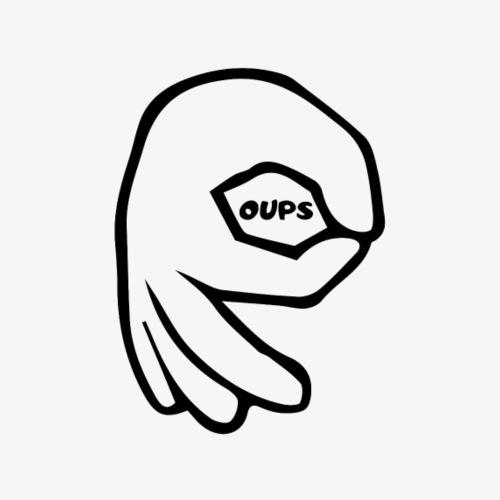 Hand circle - Mug blanc