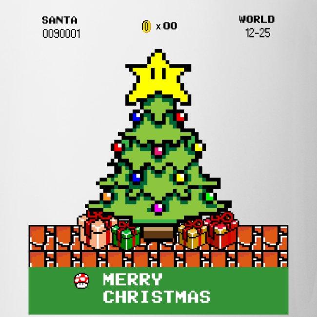 Frohe Weihnachten Pixel Zocken Gaming Gamer Tasse