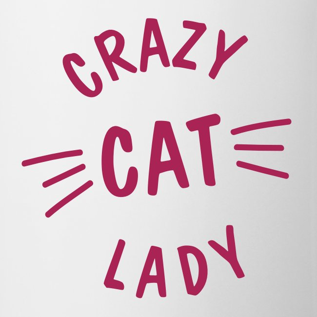 Crazy Cat Lady meow - Tasse