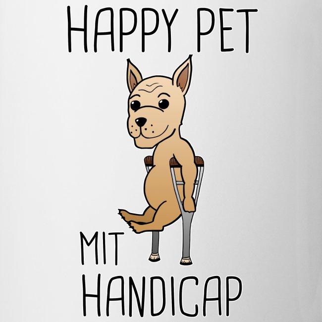Hund Handicap Haustier Lustige Sprüche Geschenk Tasse