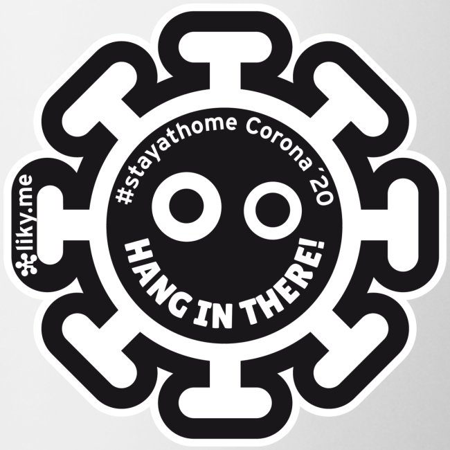Corona Virus #stayathome nero
