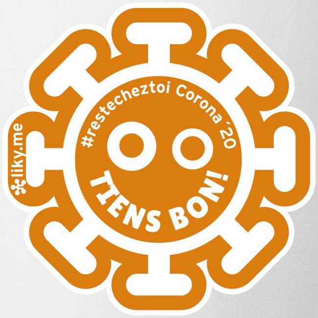 Corona Virus #restecheztoi arancione