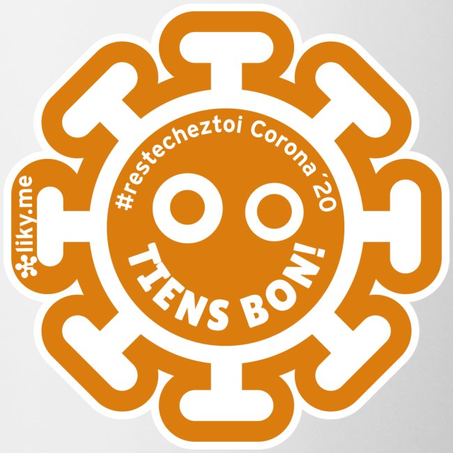 Corona Virus #restecheztoi orange