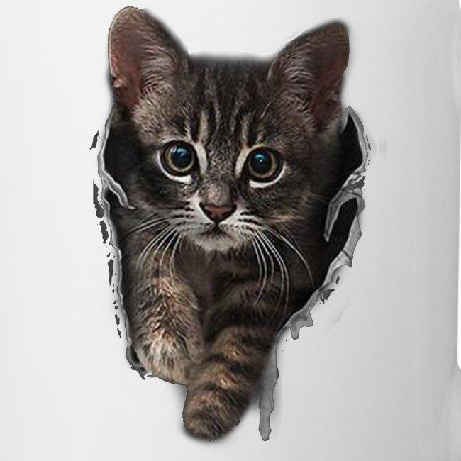 Vorschau: Katze Riss - Tasse