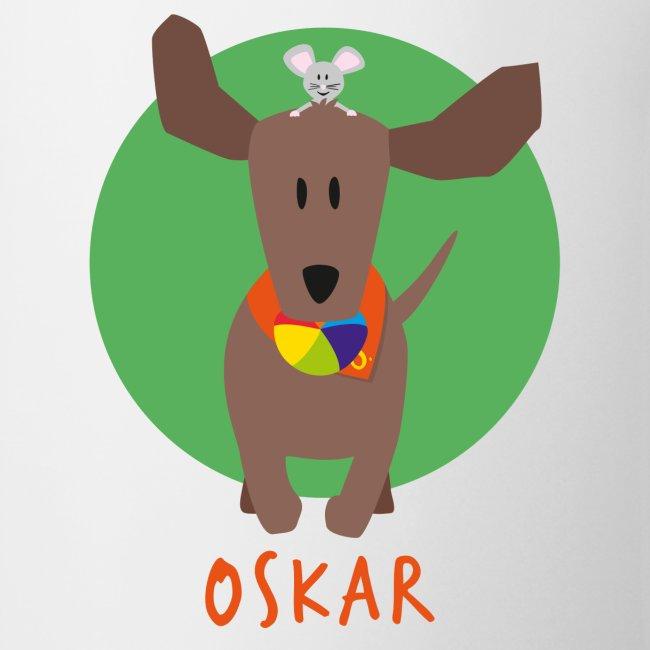 Dackel Oskar mit Maus Fridolin