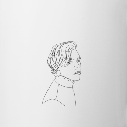 HS silhouette print - Mug