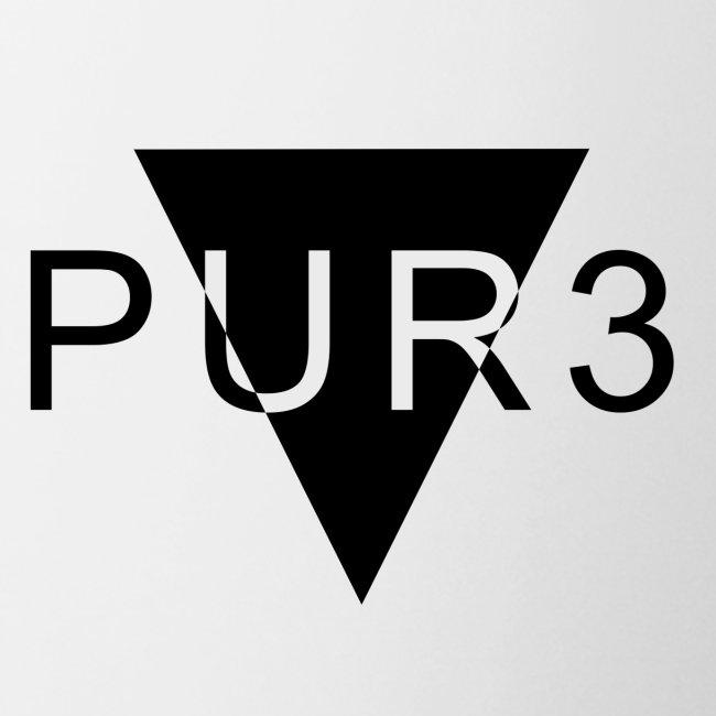 Pur3 grå hettegenser