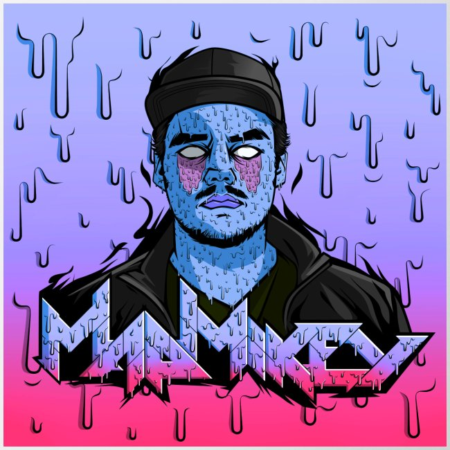 MadMikey Grime Art Blue Bastard