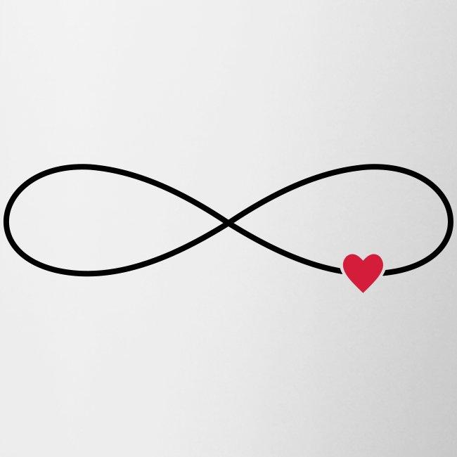 Unendliche Liebe Herz Symbol Zeichen - Tasse