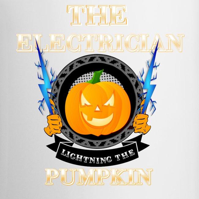 The Electrican lightning the Pumpkin