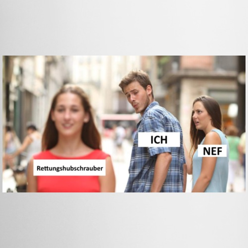 Distracted Boyfriend Meme - Tasse