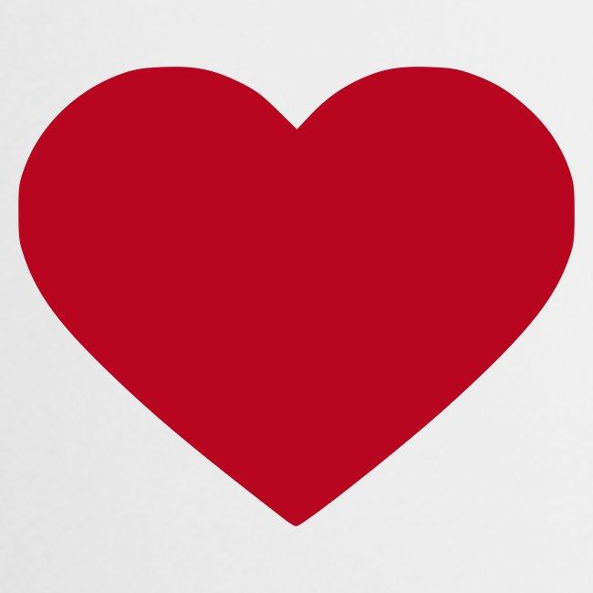 Vit Gray heart Muggar
