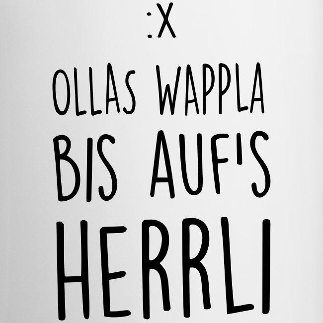 Vorschau: Ollas Wappla bis aufs Herrli - Tasse