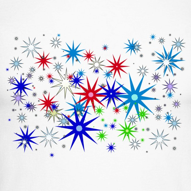 Star Snowflakes falling colourful