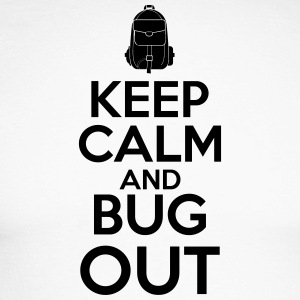 Keep Calm og Bug Out - Langærmet herre-baseballshirt