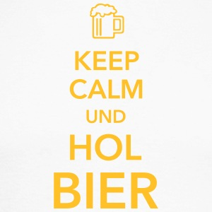 Keep calm und hol Bier Bierkasten Grillparty Wiesn - Männer Baseballshirt langarm