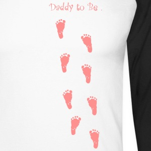 Daddy to be - Girl - Men's Long Sleeve Baseball T-Shirt