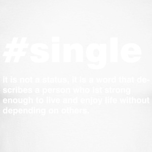 Single is not a status - Männer Baseballshirt langarm