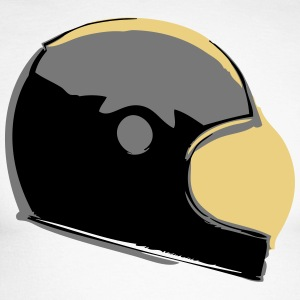 Retro Cafe Racer Helmet - Langermet baseball-skjorte for menn
