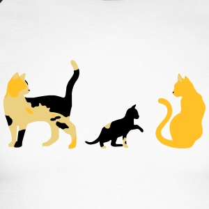 three cats - Men's Long Sleeve Baseball T-Shirt