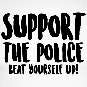 Support the police - Beat yourself up! - Men's Long Sleeve Baseball T-Shirt