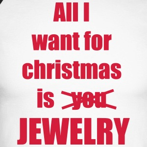 Christmas song saying Jewelry - Men's Long Sleeve Baseball T-Shirt