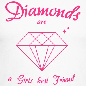 Diamanter er en Girls Best Friend - Langermet baseball-skjorte for menn